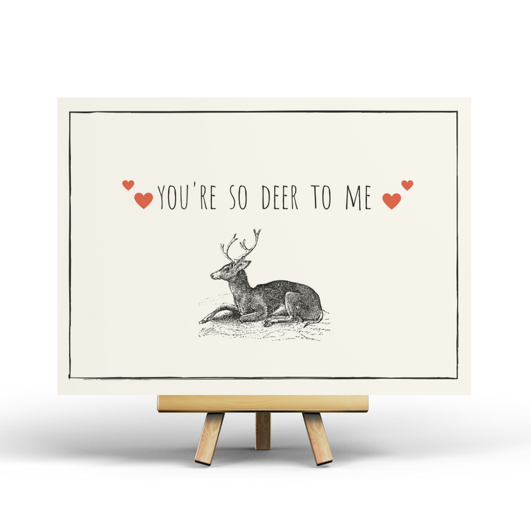 You are so deer to me - Postcard