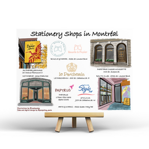 Stationery Shops in Montréal - Postcard