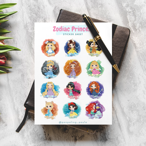 Zodiac Princess - Sticker Sheet