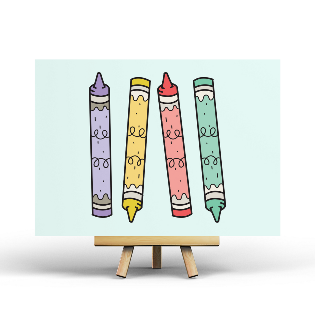 Arts & Crafts - Crayons - Postcard