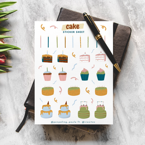 Cake - Sticker Sheet