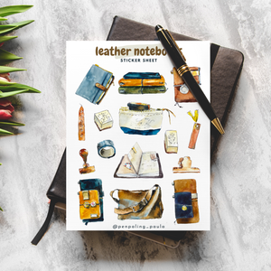 Leather Notebooks - Sticker Sheet