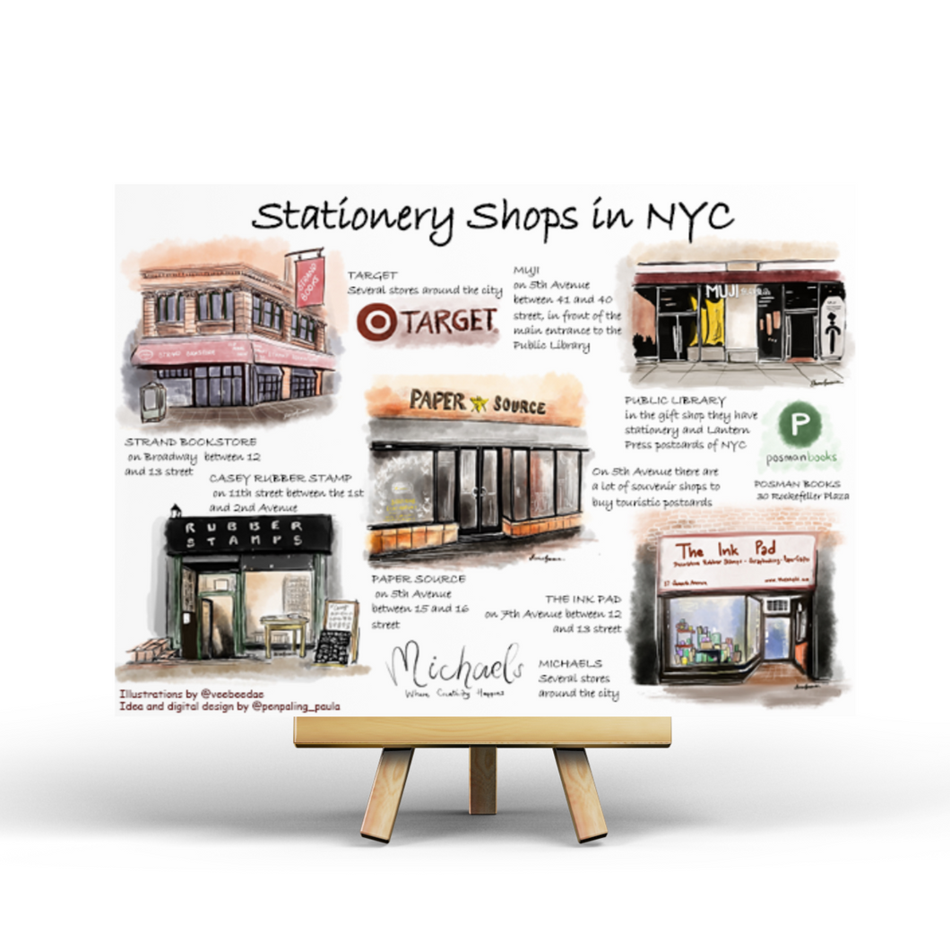 Stationery Shops in NYC - Postcard