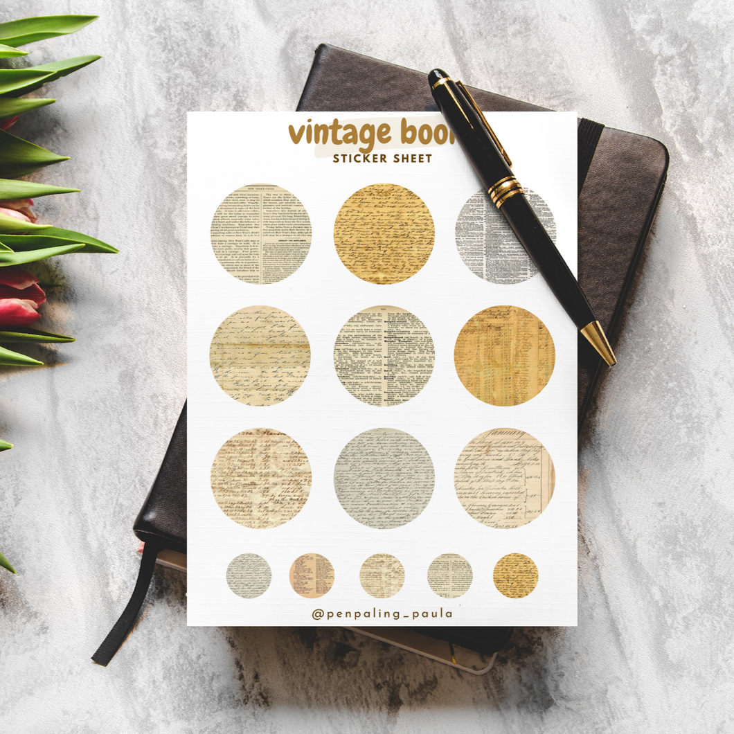 Vintage Books - Sticker Sheet