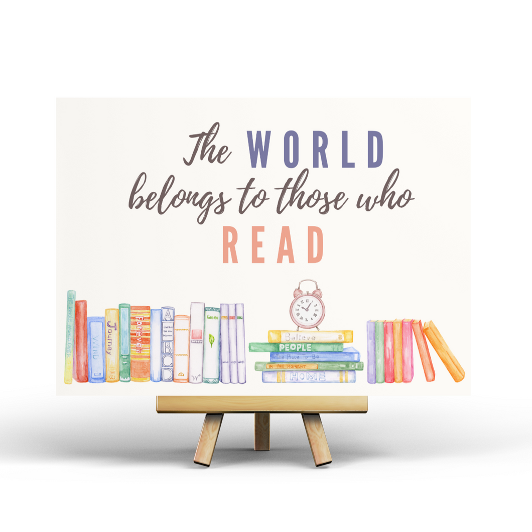 The world belongs to those who read - Postcard