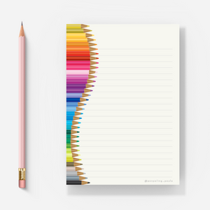Colour Pencils - Letter Pad