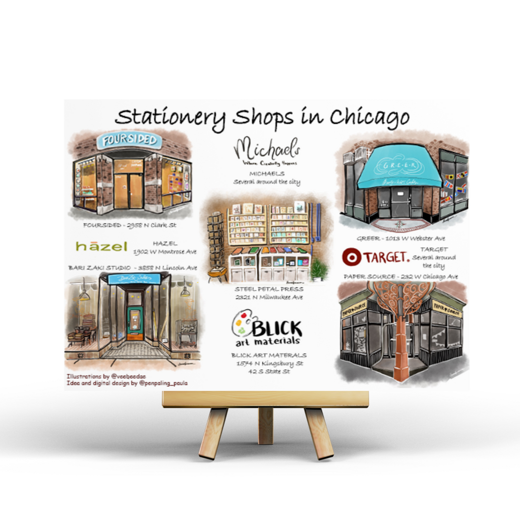 Stationery Shops in Chicago - Postcard