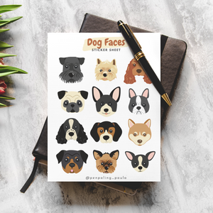 Dog Faces - Sticker Sheet