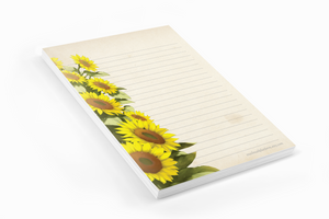 Sunflowers - Letter Pad