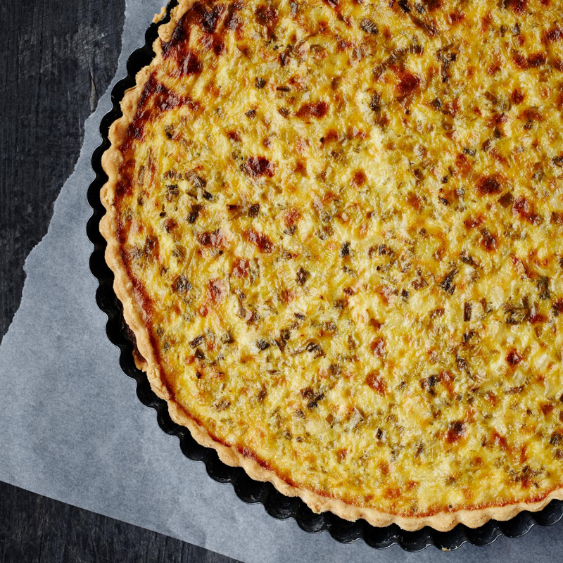 Bacon Veggie Parmesan Quiche
