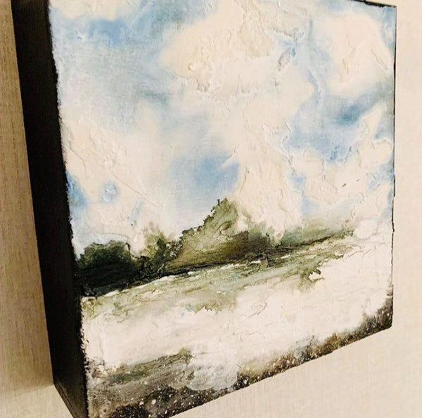 Stylized Nest West Coast Waters Textural Canvas Art