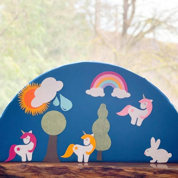 6 Piece Unicorn & Rainbow Felt Set
