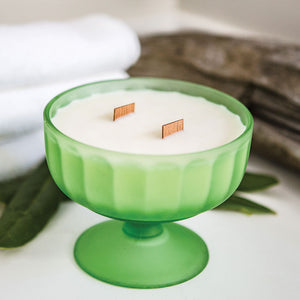 Stylized Nest Green Glass Meant To Be Candle