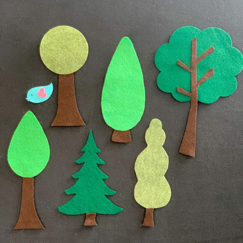 7 Piece Trees Felt Set