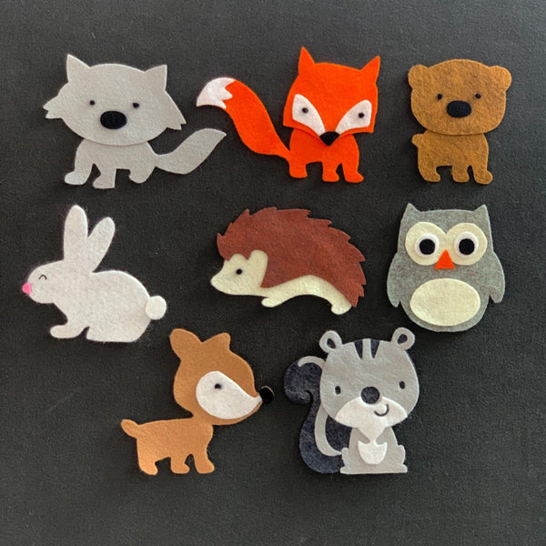 8 Piece Woodland Animals Felt Set
