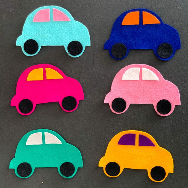 6 Piece Cars Felt Set