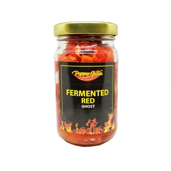 Fermented Red Ghost Peppers - Pepper Juan