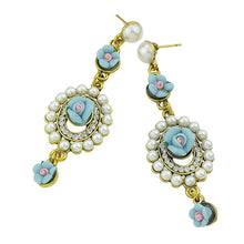 Load image into Gallery viewer, 2015 New Fashion Ethnic Style Imitation Pearl Candy Color Cute Flower Resin Dangle Earrings For Women