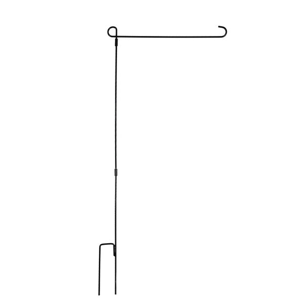 Yard Flag Accessories Garden Flag Stand Flagpole Black Wrought Iron Small Flag Stand For Yard Garden Pole Flag Holder