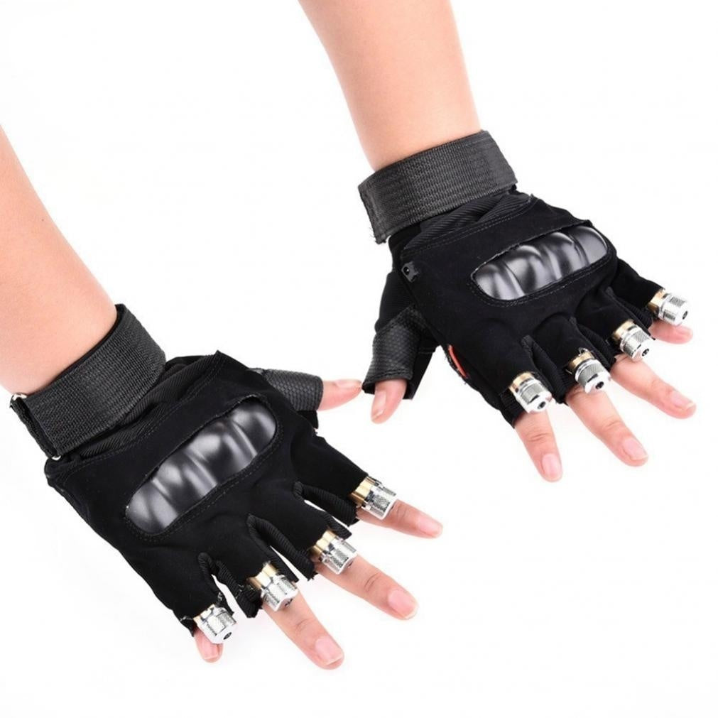 1Pcs Red/ Green Laser Stage Glove Dance Show Laser Light Gloves for DJ Club / Party / Bar, US/EU Plug