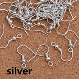 200 Pcs Stainless Steel Ball Coil Earring Hooks/Fish Hooks/Ear Wire for DIY Jewelry Making(Color:Silver,Gold,Black,Bronze,Silver White,Copper Red)