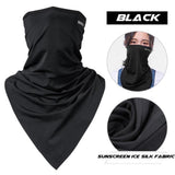 ROCKBROS Cycling Face Mask Triangle Bike Cloth Handkerchief Bandana Ice Scarf Breathable Bicycle Riding Running Headband