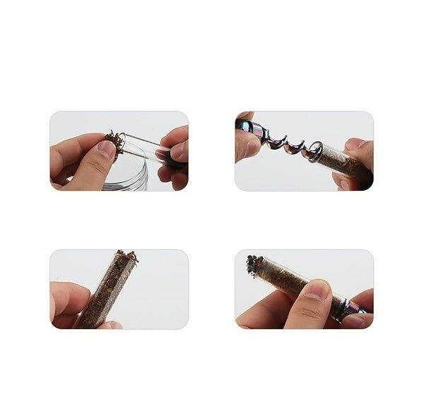 5 Colors Spiral Smoking Glass Pipe Handy Transparent Tobacco Tube Twisty Glass Blunt (With or Without Cleaning Kits)