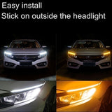 New 60cm/45cm/30cm Ultra Thin Car Soft Tube LED Strip Daytime Running Light Turn Signal Lamp