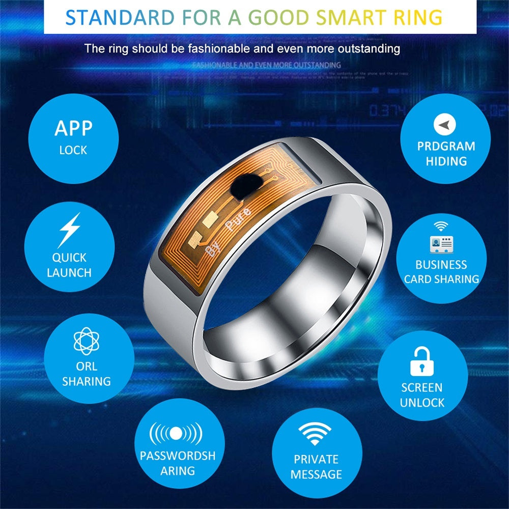 1/2PCS Waterproof Smart Ring Uses Magic NFC Ring for iPhone Samsung Huawei Xiaomi Windows Smart Phone Smart Accessories