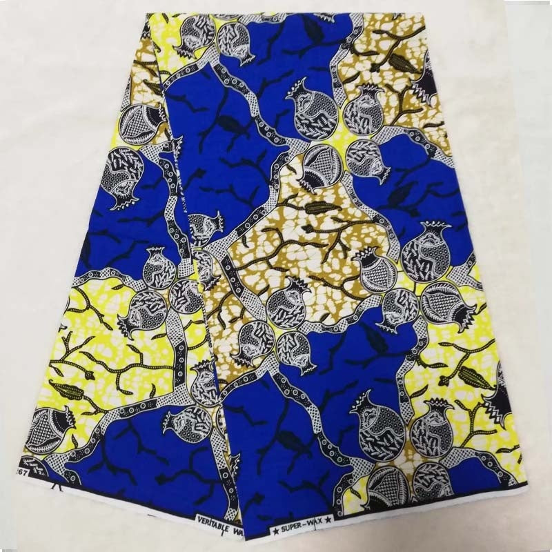 Wholesale price! Best Quality!! Veritable Dutch Real dutch Wax ,African Printed Fabric 100% Cotton Nigeria ctton lace 6yards