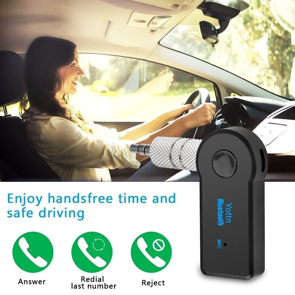 2PCS Hot Sale 3.5mm Wireless Bluetooth Receiver Stereo Audio Music Bluetooth Receiver Adapter for Speaker Car Aux Hands Free Kit