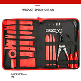 4/14/16/19pcs Pry Disassembly Tool Red Auto Car Audio Dash Tirm Panel Installer Dashboard Removal Opening Repair Tools Kit Interior Door Modeling Clip Set