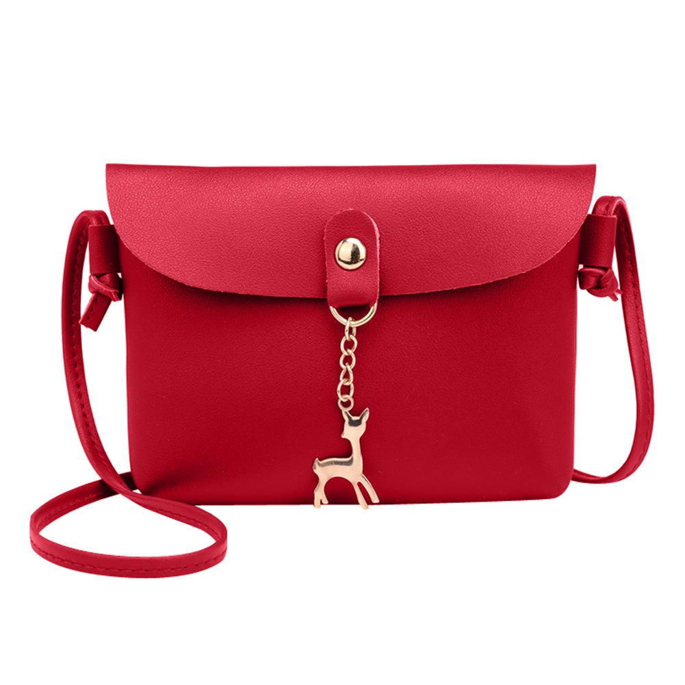 Hot Fashion Women PU Leather Bags Messenger Handbag Shoulder Bag Crossbody PU Leather Satchel Sling Bag