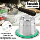 Stainless Steel Refillable Reusable Coffee Capsule Compatible For Nespresso Coffee Machine