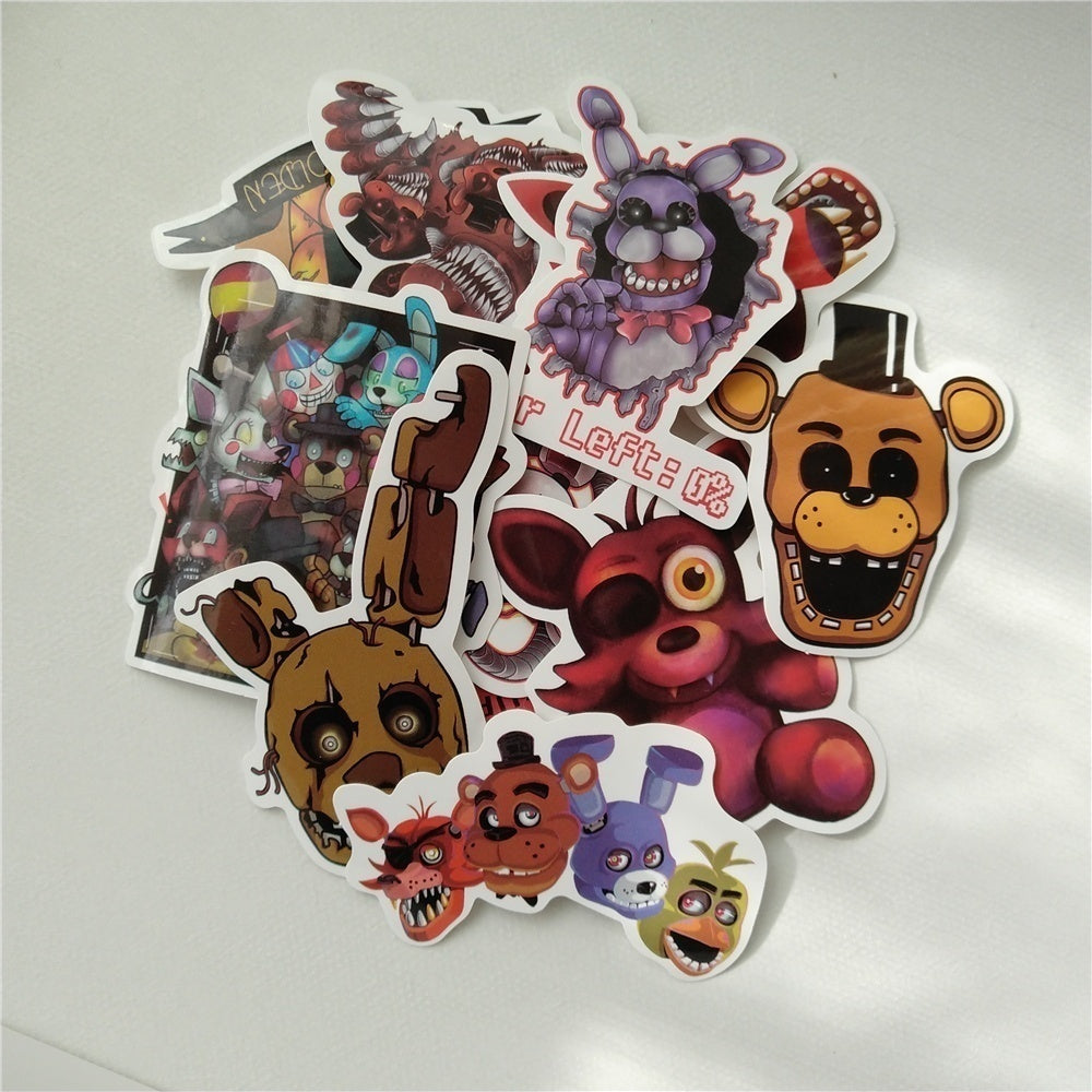 Five Nights at Freddy's Stickers For Suitcase Car Window Laptop Cell Phone Toy Styling Vinyl Decal Home Decor Sticker