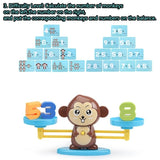 Monkey Balance Educational Math Game for Kids to Learn Counting Numbers and Basic Math, 65 Piece STEM Learning Toy CBN
