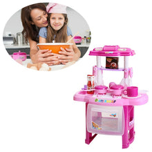 Load image into Gallery viewer, 1pc Cooking Toy Set with Light Music Early Learning Wooden Educational Stove Set Accessories for Kids Children Toddlers