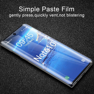 For Samsung Note 10 Plus 30D Curved Screen Protector for Samsung Galaxy S8 S9 S10 Plus S10e Protective Film Note 10+ 9 8 Tempered Glass