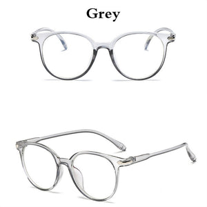 Women Spectacle Optical Frame Glasses Clear Lens Lady Vintage Computer Anti-Radiation Eyeglasses