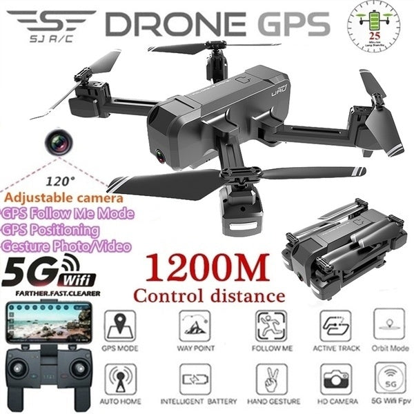 2019 Cocal New Series KF607 Foldable Brushless RC Drone Quadcopter, GPS follows me 5G WiFi FPV 1080P 4K  Cam, App Control Flight, One Key Takeoff/Landing, 25 Mins Max Flight Time 1200M Remote Control Distance