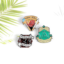 Load image into Gallery viewer, D20 Tabletop Rpg Dice Enamel Pin Dungeons and Dragons Badge Game Geek Gifts