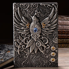 Load image into Gallery viewer, Best Gifts For Students  3D Retro Vintage Printing Embossed Phoenix Travel Diary Notebook Journal A5 Leather Note Book