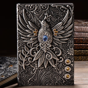 Best Gifts For Students  3D Retro Vintage Printing Embossed Phoenix Travel Diary Notebook Journal A5 Leather Note Book