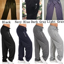 Load image into Gallery viewer, Women's Fashion Loose Casual Pure Color Harem Yoga Joggerpant Trousers Harem Women Trousers Pants Sweatpants Wide leg pants
