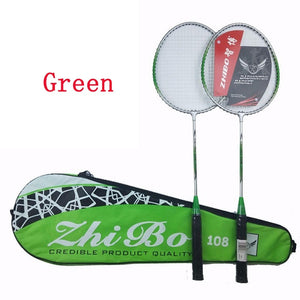 2PCS/Badminton racket new couple iron alloy beginner split badminton racket gift badminton racket set