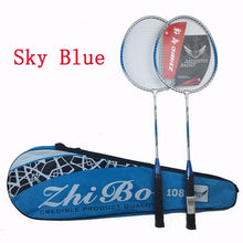 Load image into Gallery viewer, 2PCS/Badminton racket new couple iron alloy beginner split badminton racket gift badminton racket set