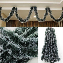 Load image into Gallery viewer, 2Pcs Beautiful 2M Christmas Decoration Bar Ribbon Garland Christmas Tree Ornaments White Dark Gift