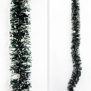 2Pcs Beautiful 2M Christmas Decoration Bar Ribbon Garland Christmas Tree Ornaments White Dark Gift