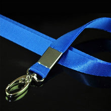 Load image into Gallery viewer, Multi-Color Nylon Solid Lanyard Neck Strap Keychain for Badge ID Card Work Permit Holder New