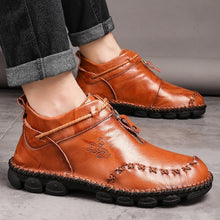 Load image into Gallery viewer, Men's Boots, Chelsea Boots, Ankle Dress Boot for Men, Genuine Leather Oxfords Boots for Men with Leather Slip-on Hand Stitching